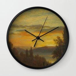 Albert Bierstadt - On the Hudson River near Irvington Wall Clock