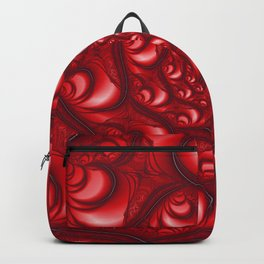 Fractal Web in Red White and Black Backpack