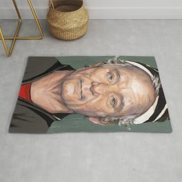 Bill Murray in Beanie Painted Portrait Rug