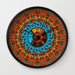 Colorful Hunab Ku Mayan symbol #7 Wall Clock