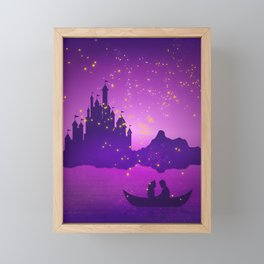 Castle with Lanterns Framed Mini Art Print