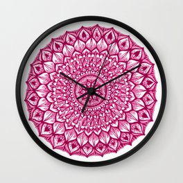 Sand Dollar-Magenta Wall Clock
