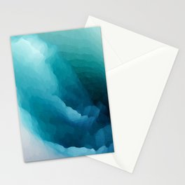 """""""Inner Calm"""" Turquoise Modern Contemporary Abstract Stationery Cards"""