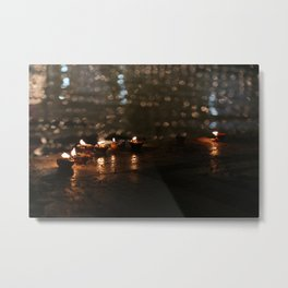 Diyas at the Golden Temple Metal Print