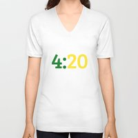 oakland V-neck T-shirts featuring Oakland 420 by Good Sense