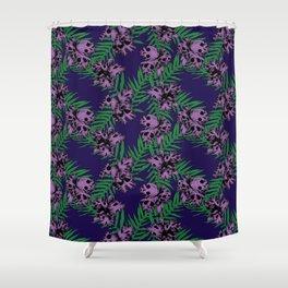 Orchid Skulls Shower Curtain