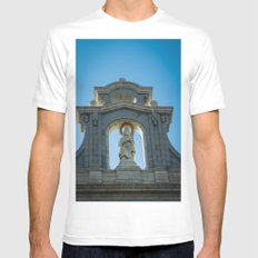 Almudena Cathedral, Madrid MEDIUM White Mens Fitted Tee