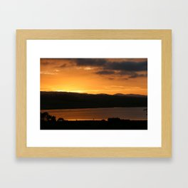Sunrise - Tamar River - Tasmania - Aus Framed Art Print