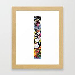 Here Be Dragons Framed Art Print
