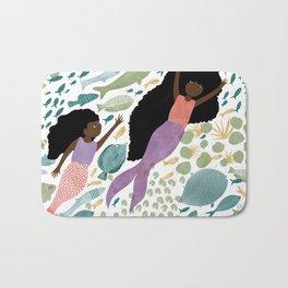 Mermaids and Fish in the Ocean Bath Mat