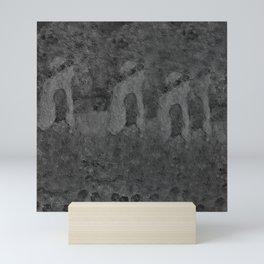Autumn Memory by Lu, black-and-white Mini Art Print