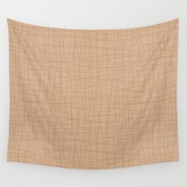 Cavern Clay SW 7701 Hand Drawn Abstract Mosaic Grid Pattern on Ligonier Tan SW 7717 Wall Tapestry