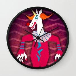 Killer Clown Unicorn Wall Clock