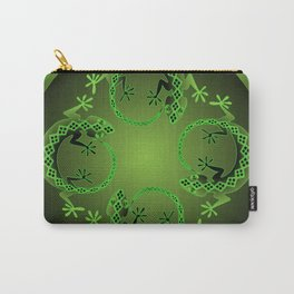 Vintage Green Gecko Carry-All Pouch