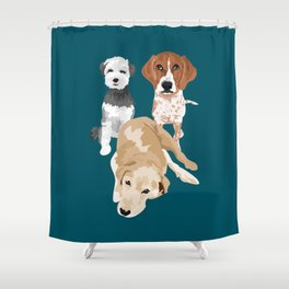 Noah Charlie and Hazel Shower Curtain