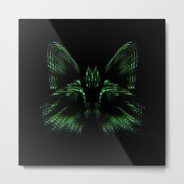 Space cat. cat's head flies out of space in the color spectrum. Metal Print