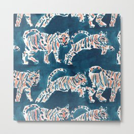 TIGER POUNCE Metal Print