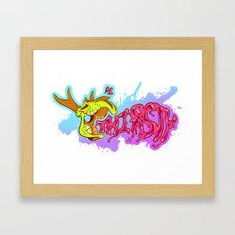 Dry Bones (Pink) Framed Art Print