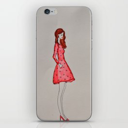 that girl in red iPhone Skin