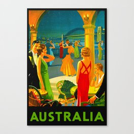 Vintage Sydney Australia Travel Canvas Print