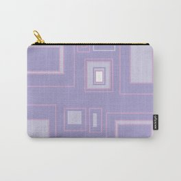 Abstract lilac background with squares Carry-All Pouch