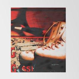 Vintage Skates-Color Throw Blanket