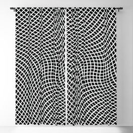 Black And White Mesh Twist Blackout Curtain