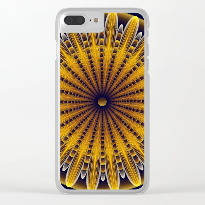 The fractal sunflower Clear iPhone Case