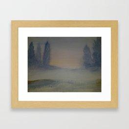 Winter tranquility Framed Art Print