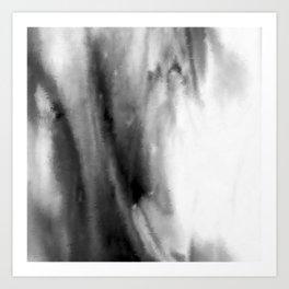 Black and White Distortion Art Print