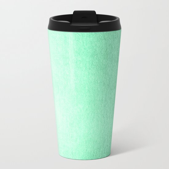 Mint Meringue Shimmer Metal Travel Mug