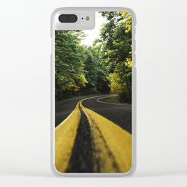 new england road Clear iPhone Case