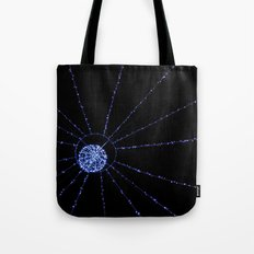 blue web Tote Bag