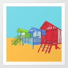 Thoughts of Summer // Beach Huts Art Print