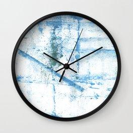 Sky blue abstract Wall Clock