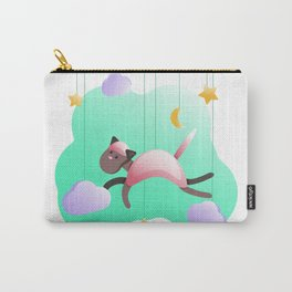 Baby girl Birth Announcement metric baby Digital posters print download File Pink Cat Carry-All Pouch