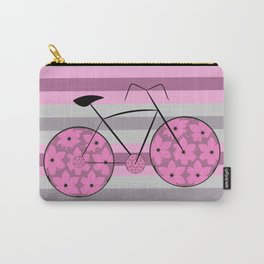 Floral ride in stripes Carry-All Pouch