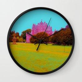 glamis castle in technicolor Wall Clock