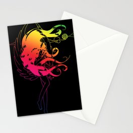 Rainbow Naraku - Black Stationery Cards