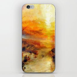 """J. M. W. Turner """"Slavers Throwing overboard the Dead and Dying, Typhon coming on - The slave ship"""" iPhone Skin"""