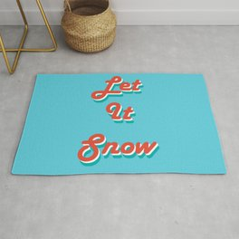 Retro Let it Snow Rug