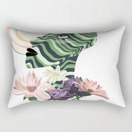 Sun and flowers Rectangular Pillow