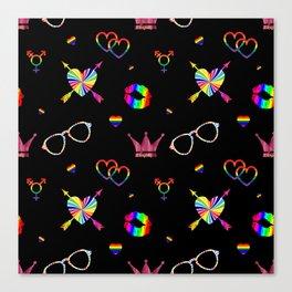 LGBTQ icons pattern Canvas Print