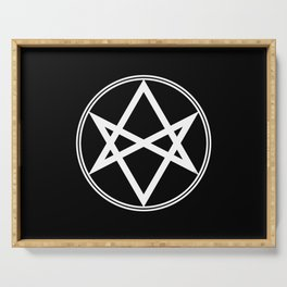 Men of Letters Symbol White Serving Tray