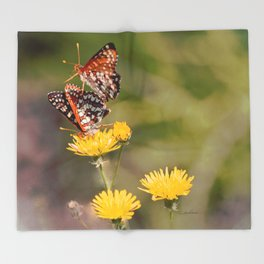 Butterfly Acrobats Throw Blanket