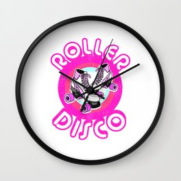 Roller Disco Derby Vintage & Distressed design 70s 80s Wall Clock