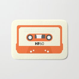 Orange Cassette #1 Bath Mat
