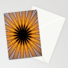 Golden Brown with a Twist Stationery Cards