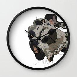I Wuf You Great Dane Wall Clock