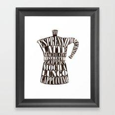 Moka Framed Art Print